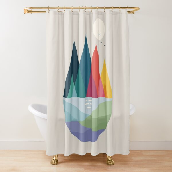 Somewhere Shower Curtain
