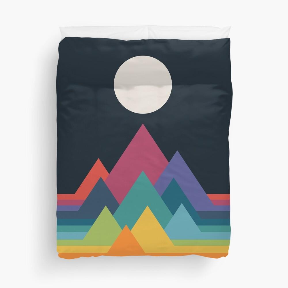 Whimsical Mountains Duvet Cover
