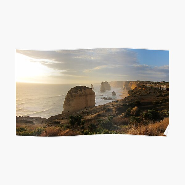 12 Apostles Near Sunset Poster