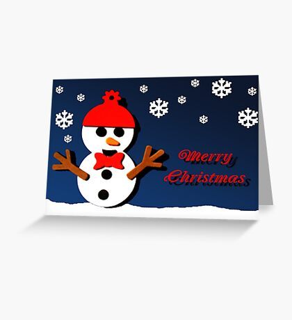 Frosty Christmas Greeting Greeting Card