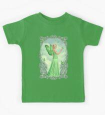 Peridot Birthstone Fairy Kids Tee