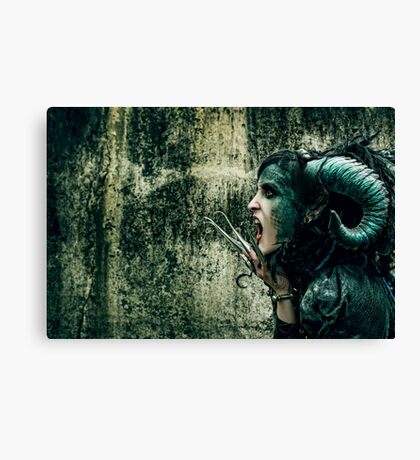 She Has Blood of Reptile Just Underneath Her Skin... Canvas Print