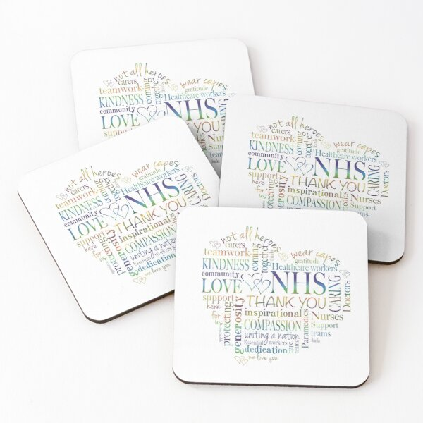 A special Thank you for the NHS Coasters (Set of 4)