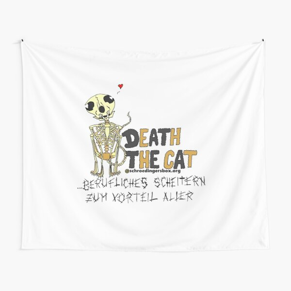 Death the Cat (Portrait Edition in German) Tapestry