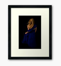 Sapphire Swagger Framed Print