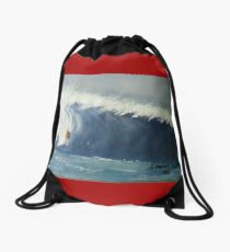 Surfing Drawstring Bag