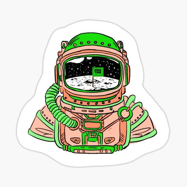 Ruel Free Time astronaut sticker Sticker