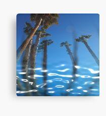 Water Palms Canvas Print