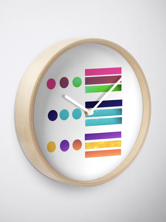Alternate view of Dots & Stripes Clock