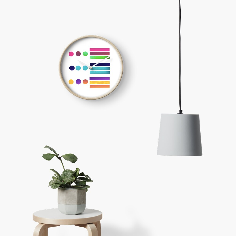 Dots & Stripes Clock
