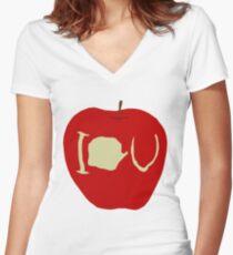 I.O.U Women's Fitted V-Neck T-Shirt