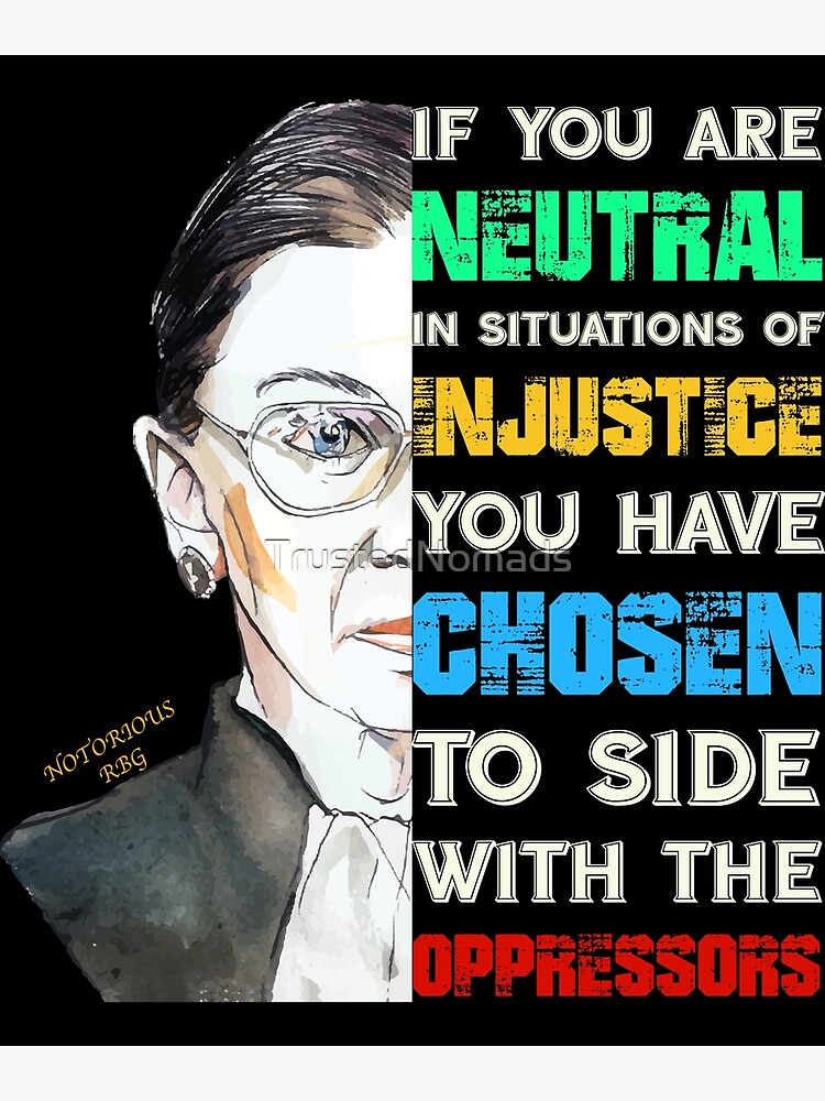 Notorious RBG Ruth Bader Ginsburg Feminist Quote Gift product by TrustedNomads