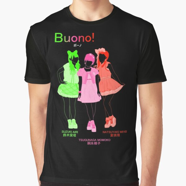 """Buono! / """"Never Gonna Stop"""" (group shot) Graphic T-Shirt"""