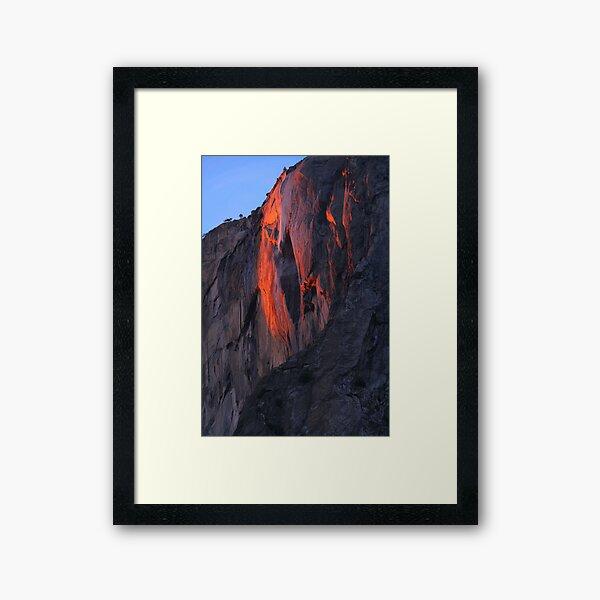 Horsetail Falls Feb 21st Yosemite Framed Art Print