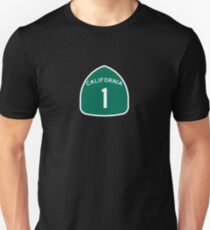 California Highway 1 T-Shirt - State Route One Road Sign Sticker PCH Unisex T-Shirt