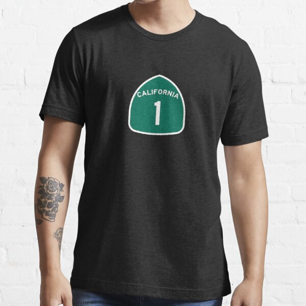 California Highway 1 T-Shirt - State Route One Road Sign Sticker PCH Essential T-Shirt