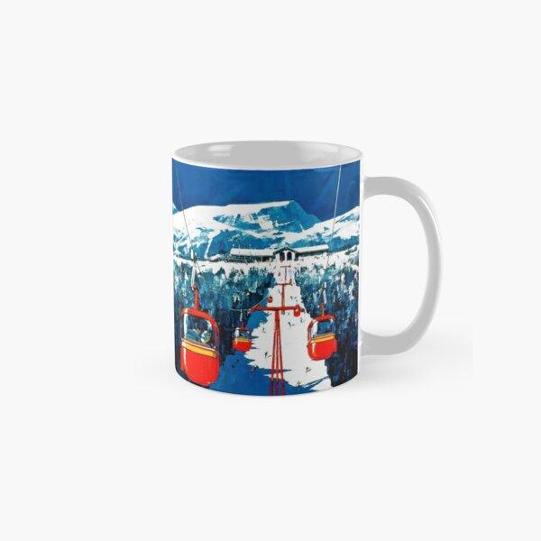 Vintage Stowe gondola winter travel ski poster Classic Mug