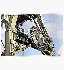 Spinning Wheel on Crane in Tilbury Docks Poster