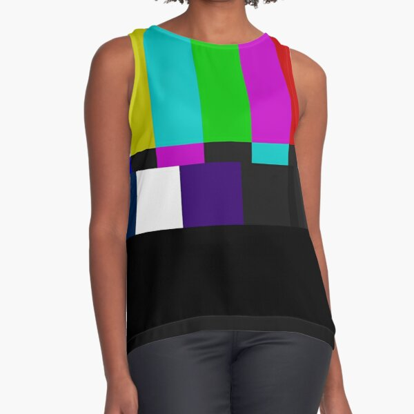 TV Color Bars Sleeveless Top