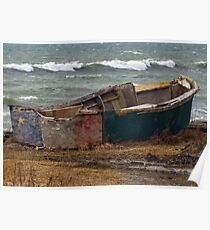 Lonely Acadian Boat Poster