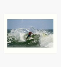 Kelly Slater at the Quiksilver Pro Art Print