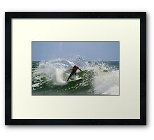 Kelly Slater at the Quiksilver Pro Framed Print