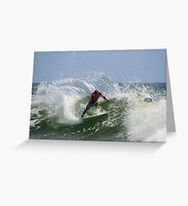 Kelly Slater at the Quiksilver Pro Greeting Card