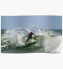 Kelly Slater at the Quiksilver Pro Poster
