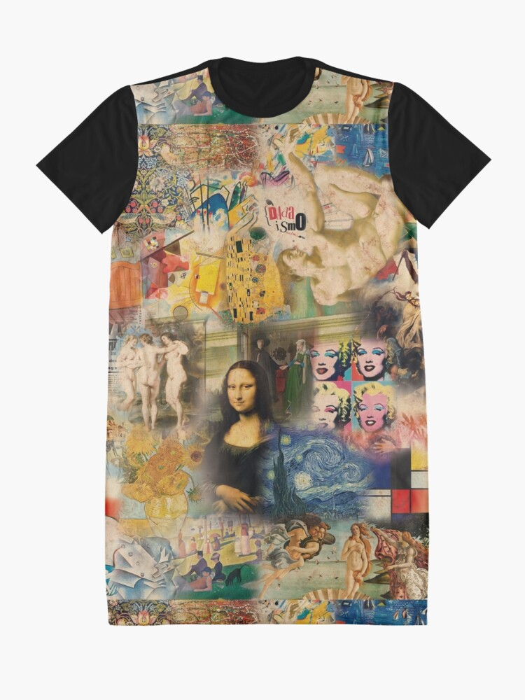 Alternate view of History of art Graphic T-Shirt Dress