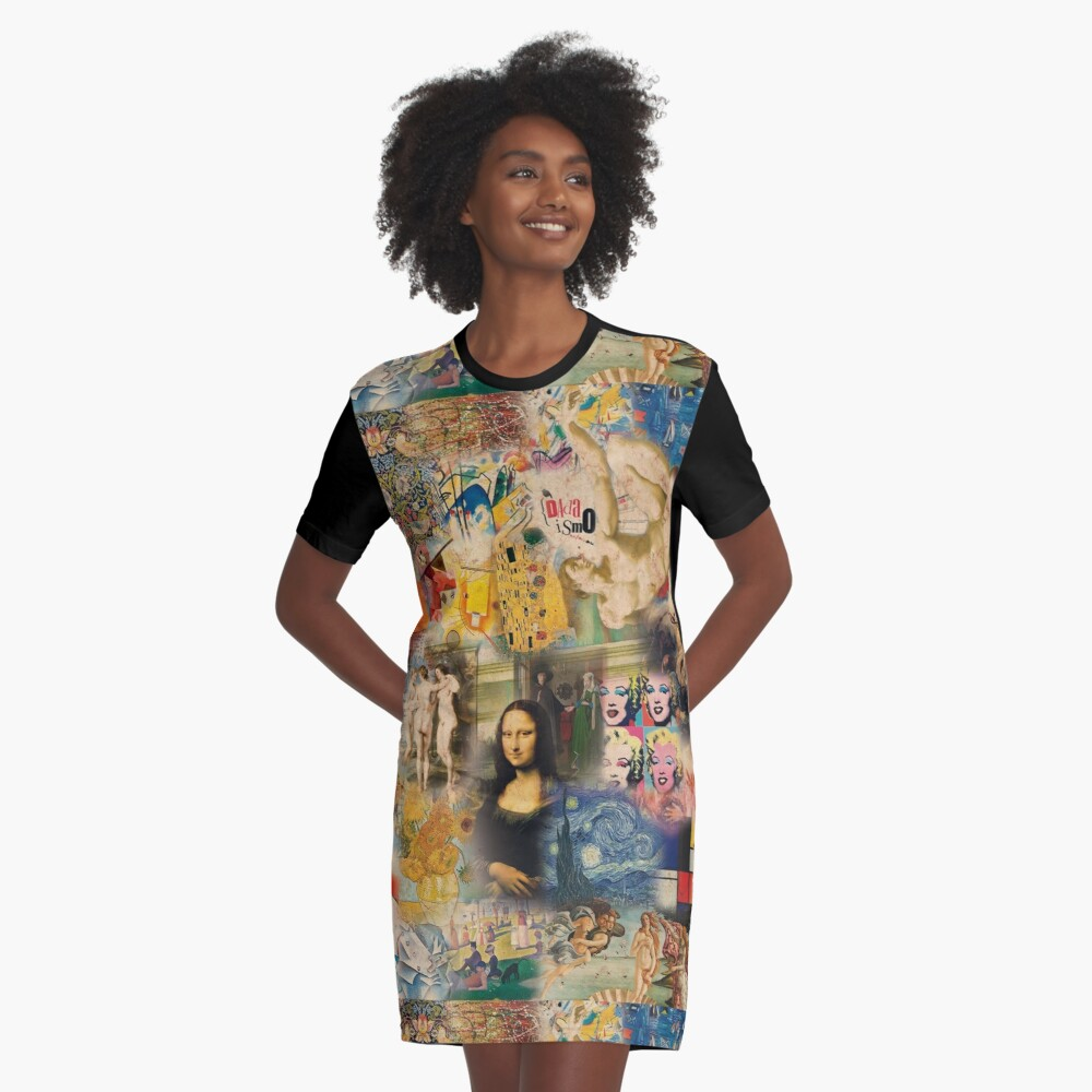 History of art Graphic T-Shirt Dress