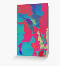You Are Here Magenta Greeting Card