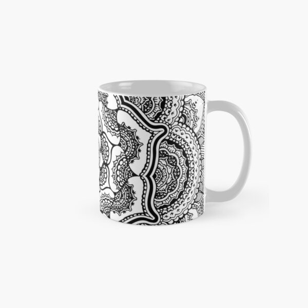Spring Lotus || Abstract || Black and White Classic Mug