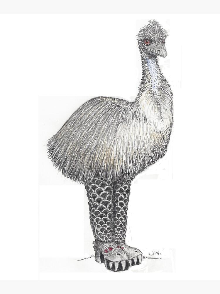 Emu in Kiss boots by JimsBirds