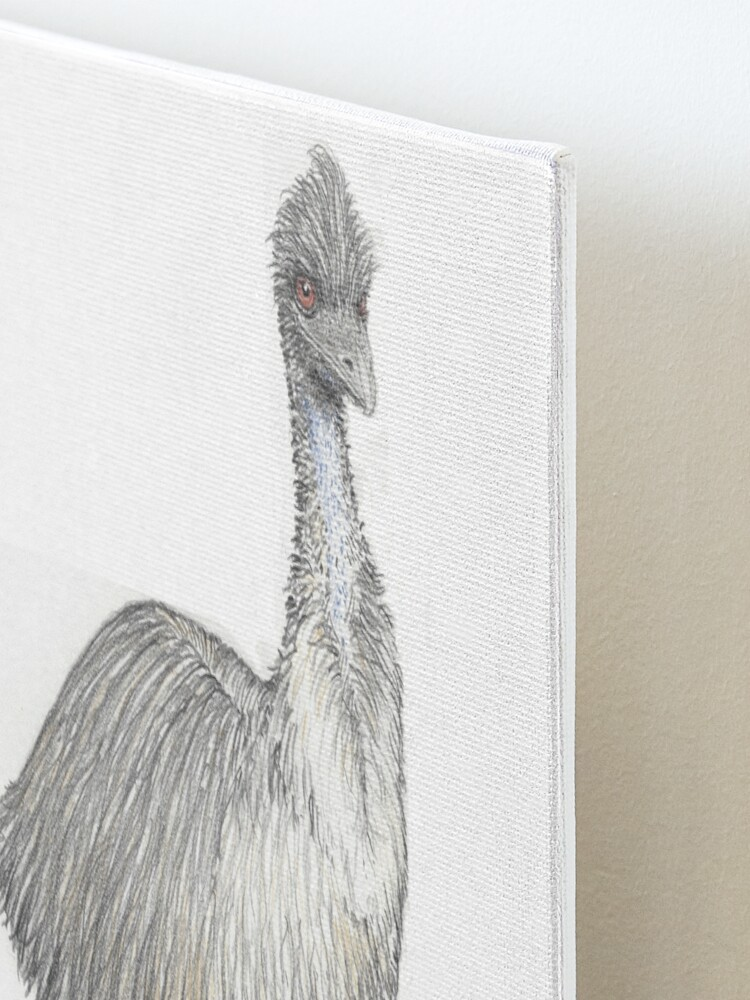 Alternate view of Emu in Kiss boots Mounted Print