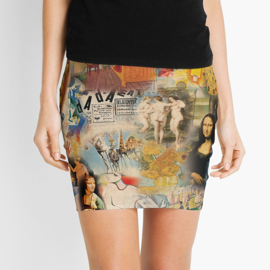 History of art Mini Skirt