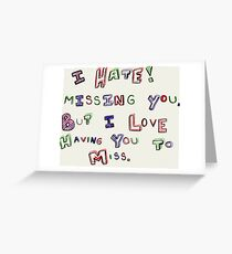 Miss you greeting cards redbubble miss you greeting card m4hsunfo