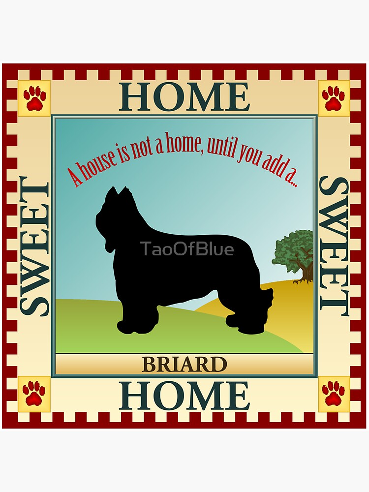 Home Sweet Home - Briard (1) by TaoOfBlue