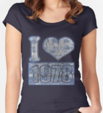 I heart 1978 Vintage Women's Fitted Scoop T-Shirt
