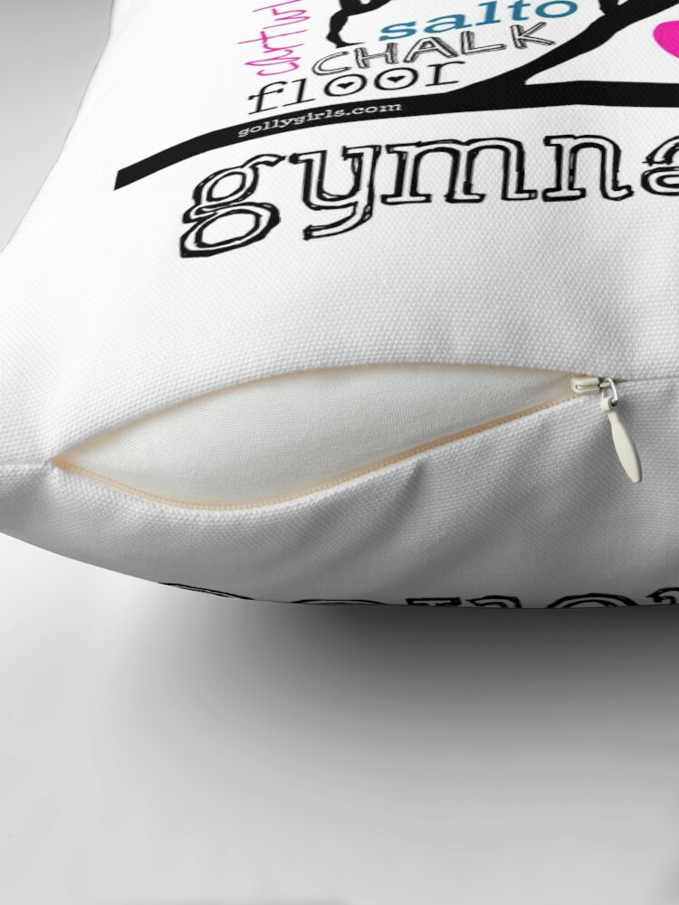 Alternate view of Gymnastics Tri-Color Typography Throw Pillow