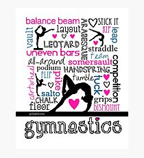 Gymnastics Tri-Color Typography Photographic Print  sc 1 st  Redbubble & Gymnastics: Wall Art | Redbubble