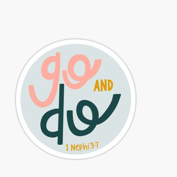 Go and Do LDS Youth Theme 2020 Sticker