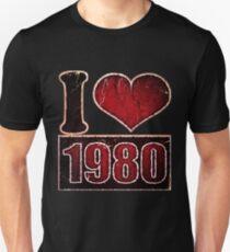 I heart 1980 Vintage T-Shirt T-Shirt