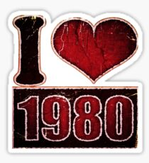 I heart 1980 Vintage T-Shirt Sticker