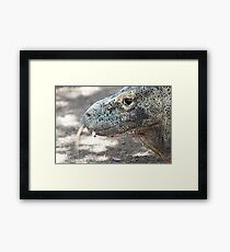 Tongue flick Framed Print