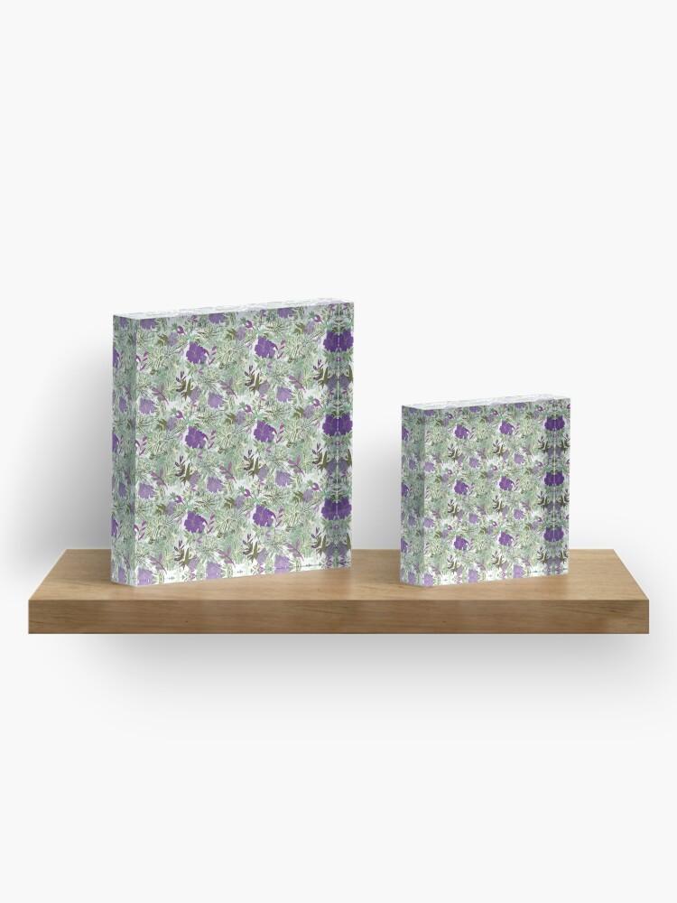 Alternate view of Purple flower Acrylic Block