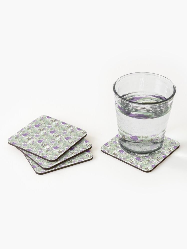 Alternate view of Purple flower Coasters (Set of 4)