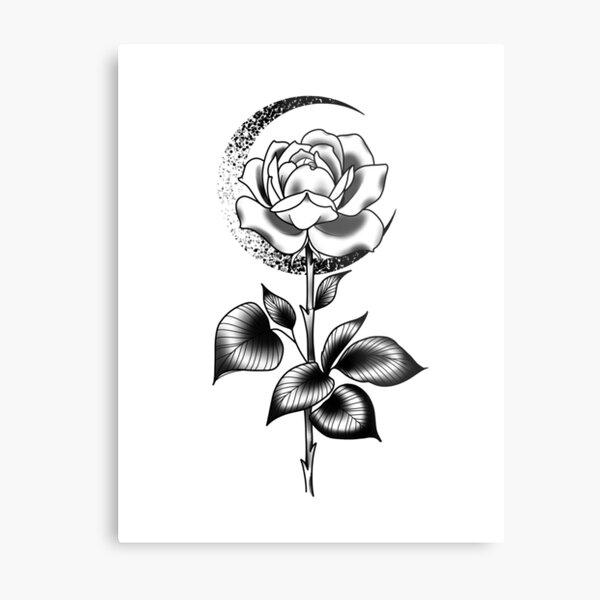 Half moon Rose Metal Print