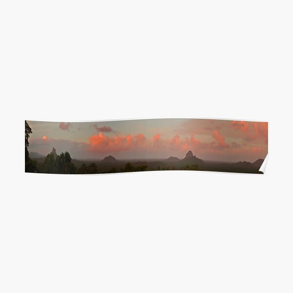 glasshouse mountains panorama Poster
