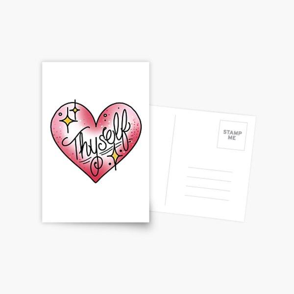 Love thyself Heart Postcard