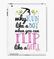 Gymnastics - Flip Like a Girl iPad Case/Skin
